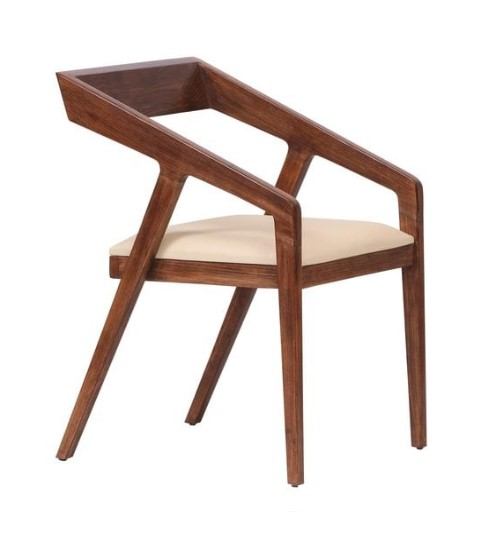 Slop Solid Wood Arm Chair