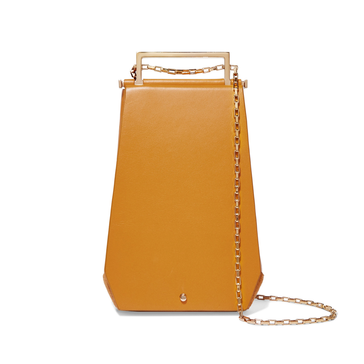 Eloine Mini Suede And Textured-Leather Shoulder Bag