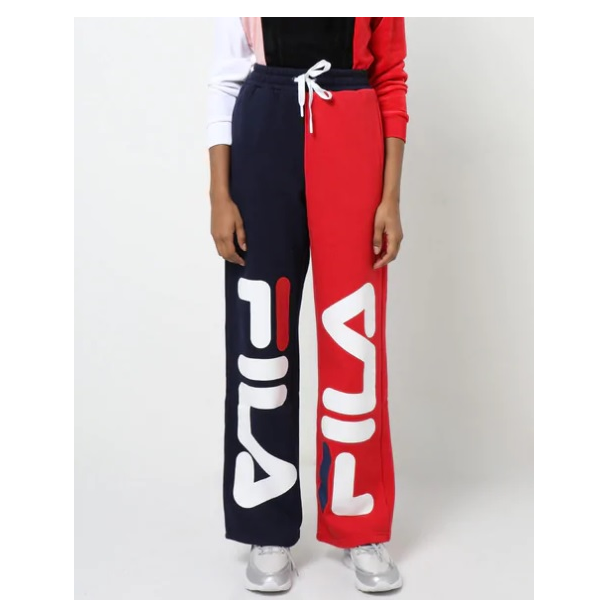 Colourblock Track Pants With Signature Branding