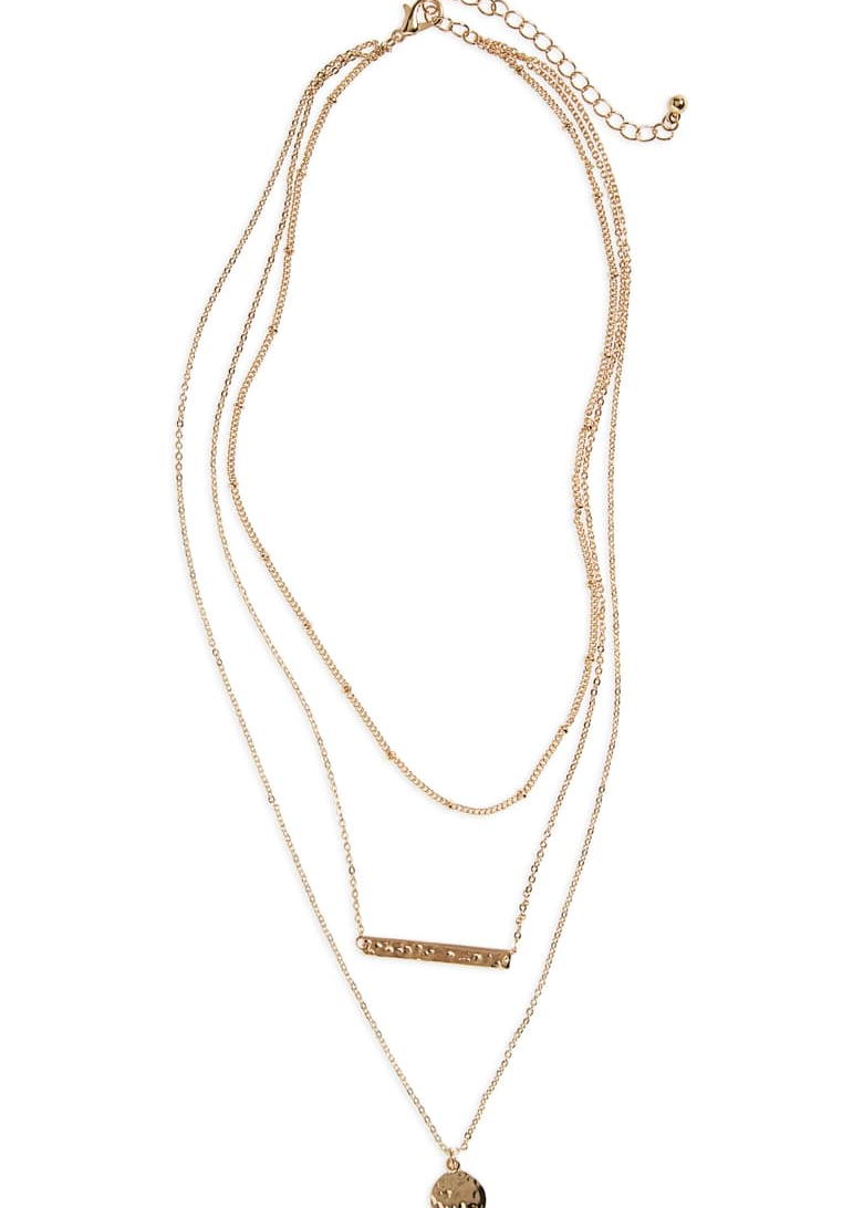 Plate & Disc Layered Necklace