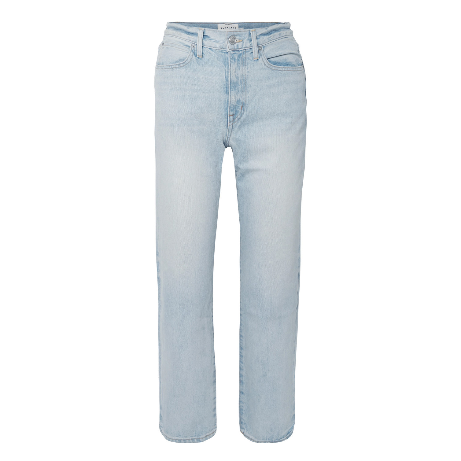 London Cropped High-Rise Straight-Leg Jeans