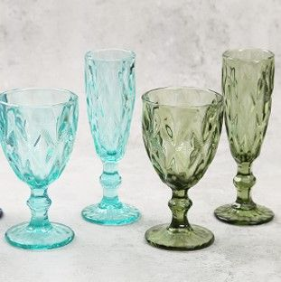 Green Orchid Champagne Glass