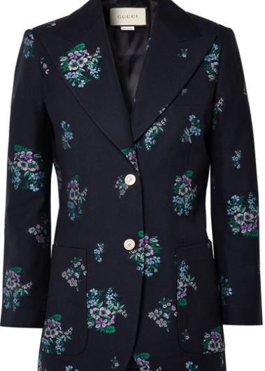 Cotton And Wool-Blend Jacquard Blazer