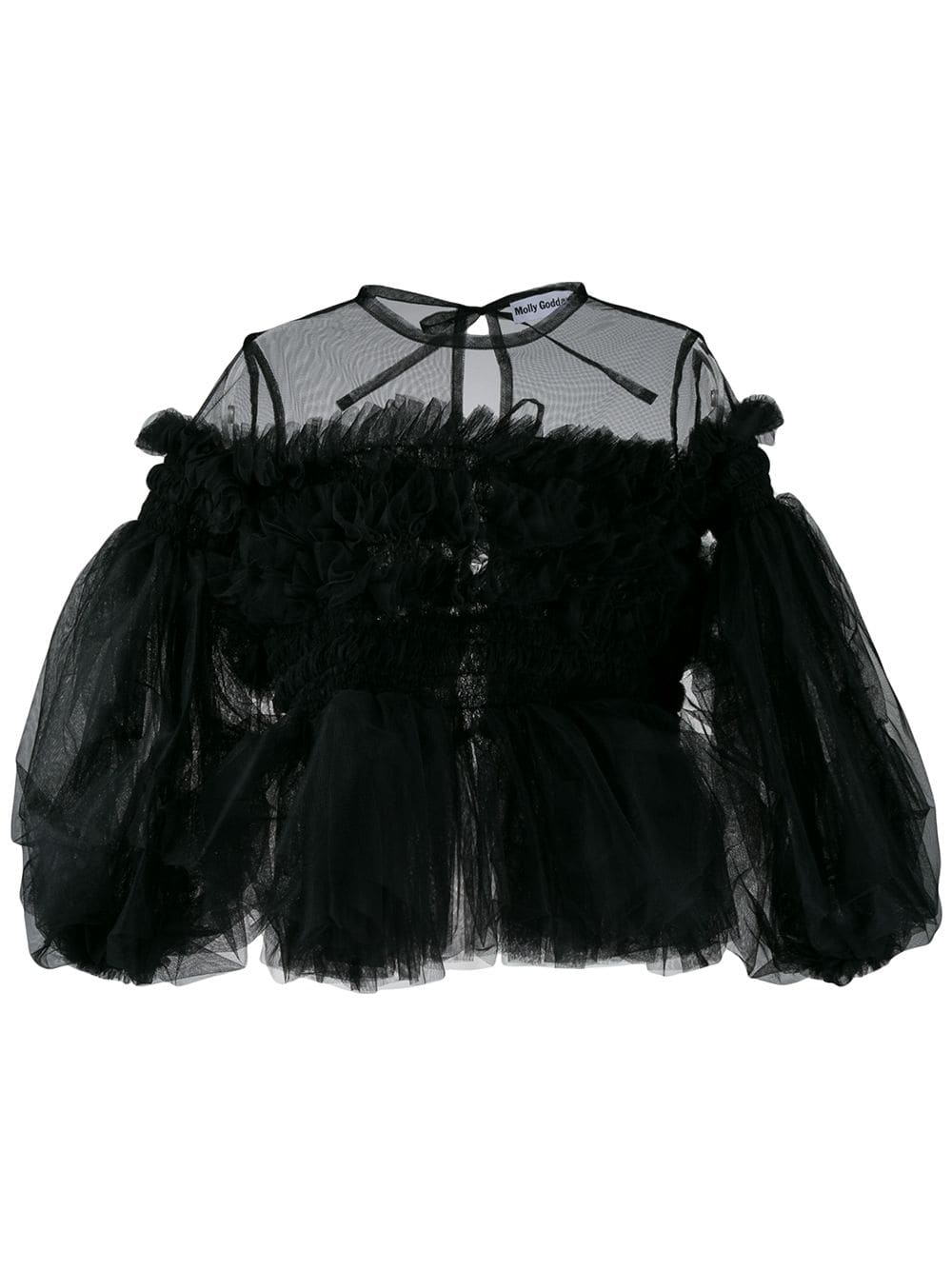 Ruffled Tulle Blouse