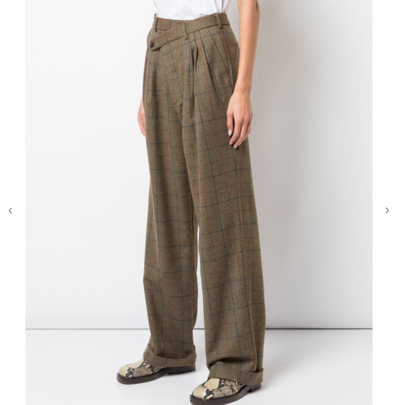 Checked Relaxed Trousers