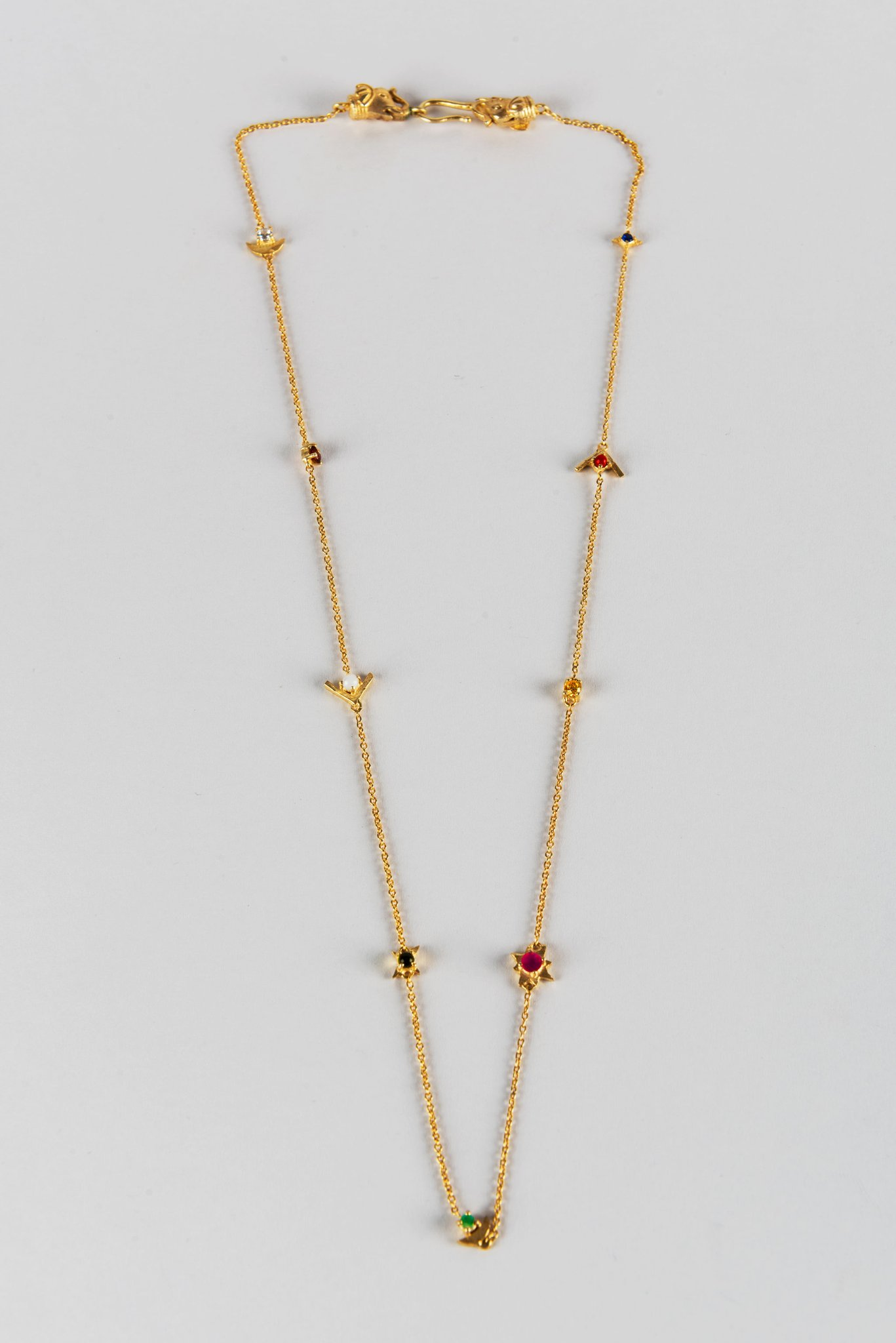 Navratna String Necklace