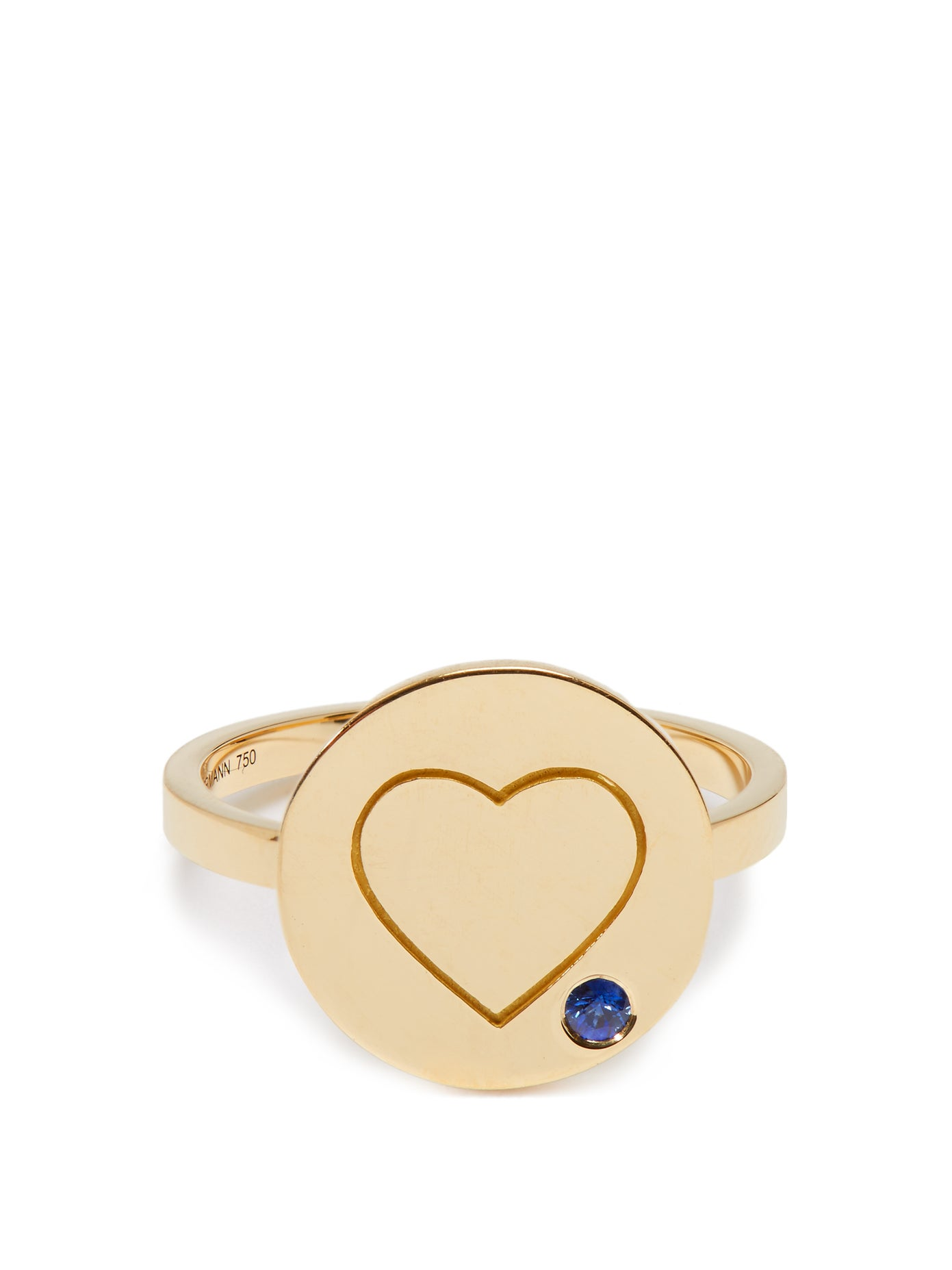 Heart Sapphire and Yellow-Gold Ring