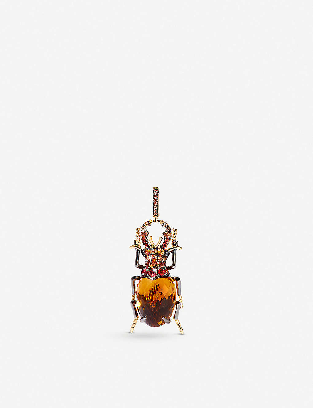 Scarab 18ct Yellow-Gold and Citrine Charm