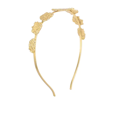 Gold Plated Textured Hairband