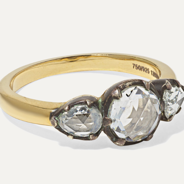Collection 18-karat Gold And Sterling Silver Diamond Ring