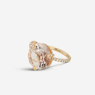 18ct Rose-gold Diamond Ring