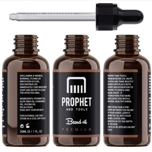 Premium Unscented Beard Oil and Comb Kit