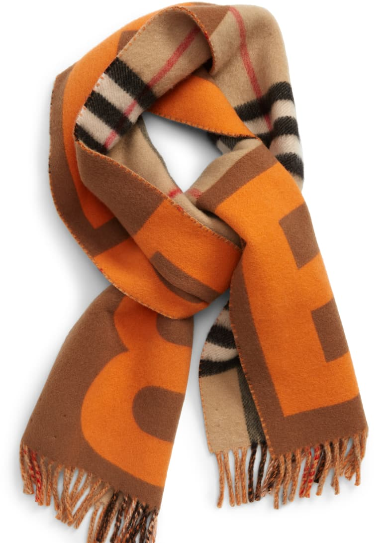 Giant Check Wool & Cashmere Scarf