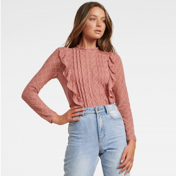 Bailey Pintuck Lace Shell Top