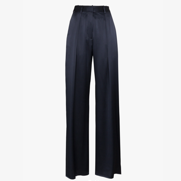 Relaxed Silk Suit Trousers