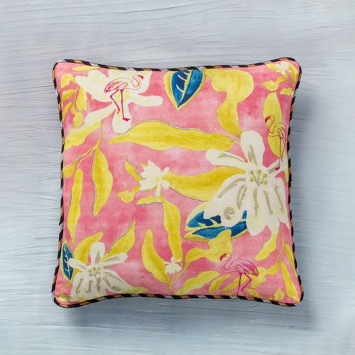 Seagrass Cushion - Pink