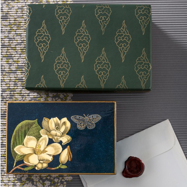 Magnolia Handpainted Box