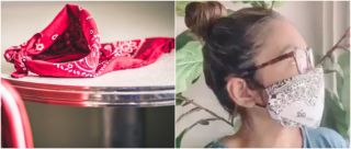 #TrendAlert: People Are Making Face Masks At Home Using A Bandana & Hair Ties & Why Not!