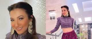 Dreamy AF! We Can't Get Over Gauahar Khan's Dainty Lehenga For BFF's Sangeet