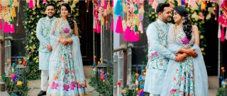 This Creative Bride Hand-Painted Her Mehendi Outfit & It's Perfect For A Summer Wedding
