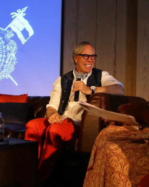 TOMMY HILFIGER  ADDRESSES STUDENTS IN NEW DELHI WITH PROF.DR.VANDANA NARANG (DIRECTOR NIFT DELHI)_TH 10TH YEAR ANNIVERSARY IN IN2