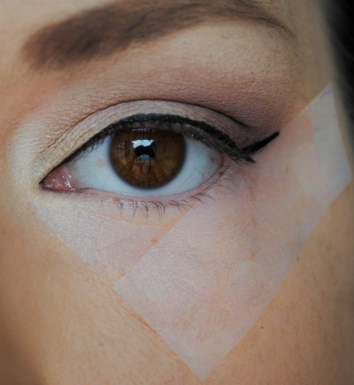 scotch tape eyeliner