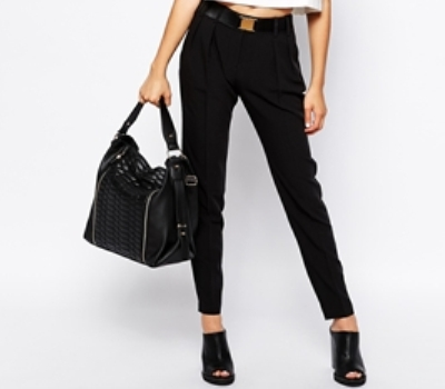western formals for work - black trousers