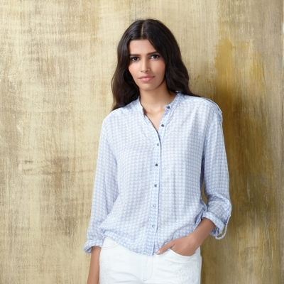 western formals for work - printed shirt