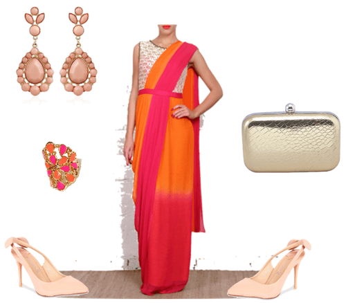 ways to rock that sari on your farewell night