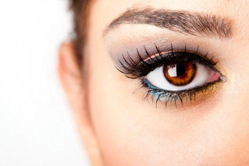 places to use gold eyeshadow