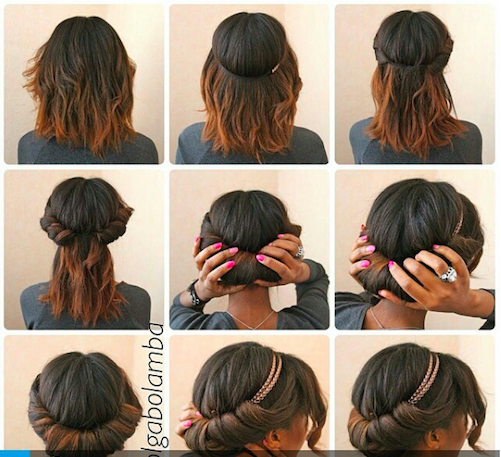 twisted headband hairstyles for unwashed hair