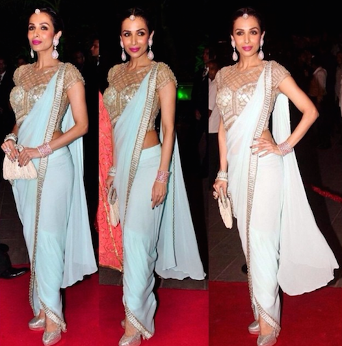 6. new ways to wear a sari
