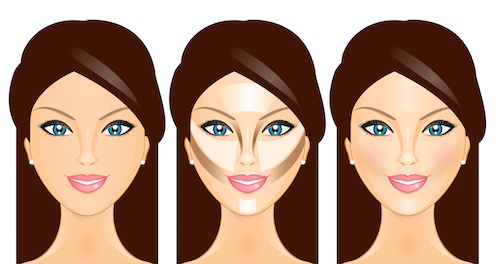 look thinner with makeup