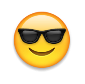 favorite emoji says about you - the smiling face with sunglasses