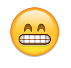 favorite emoji says about you - the grin