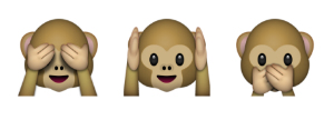 favorite emoji says about you - the monkey faces