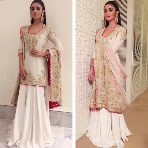 2 outfits to wear to a shaadi