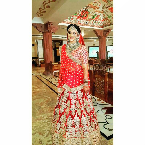 red bridal lehenga 3