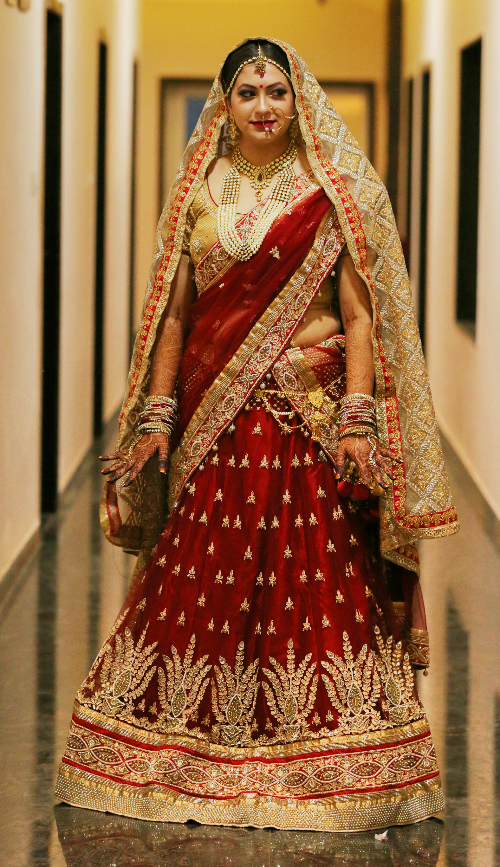red bridal lehengas 7