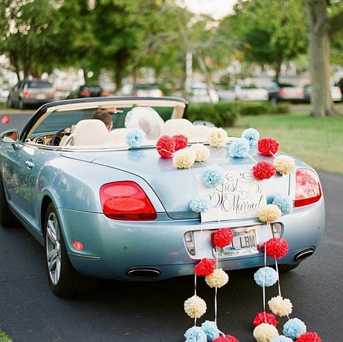 1 wedding going away car
