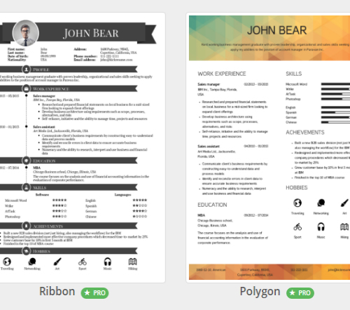 3 make awesome resumes online