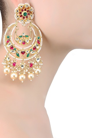 5 gold plated earrings