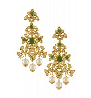 7 gold plated earrings