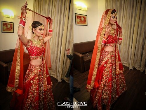 3 brides who wore red lehengas
