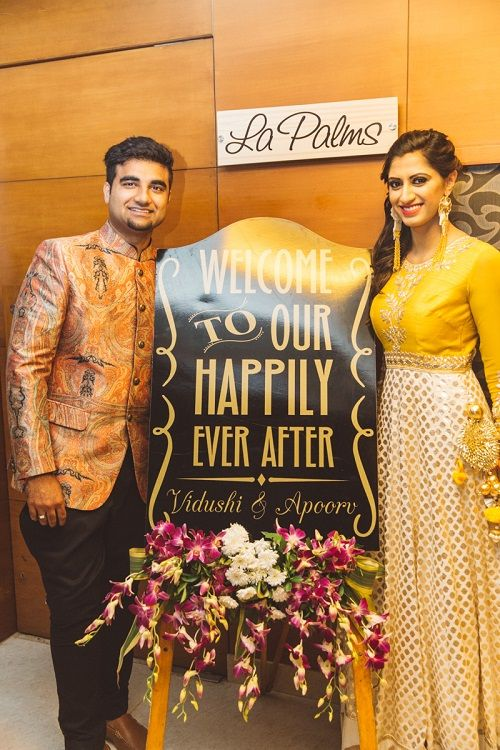 4 Signboards at weddings