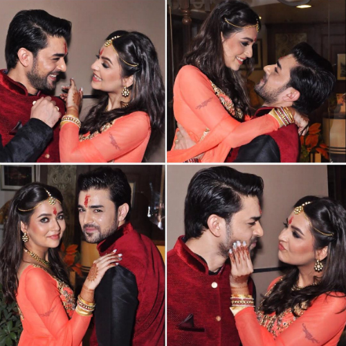 2 pictures of celeb couple