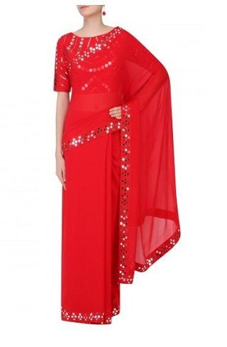 4 red sarees for the bride to be
