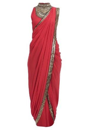 5 red sarees for the bride to be