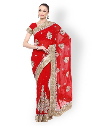 9 red sarees for the bride to be