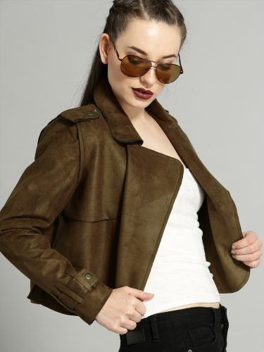 6-winter-dresses-for-women-Brown-Solid-Open-Front-Jacket
